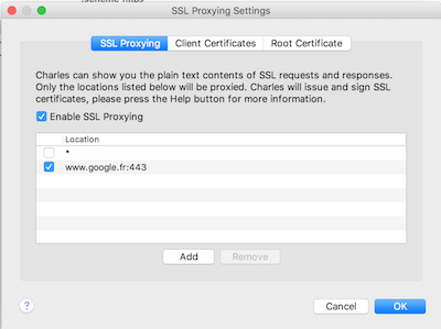 Using Charles as SSL Proxy on iOS