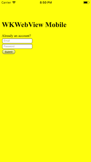 iOS Webkit Simulator