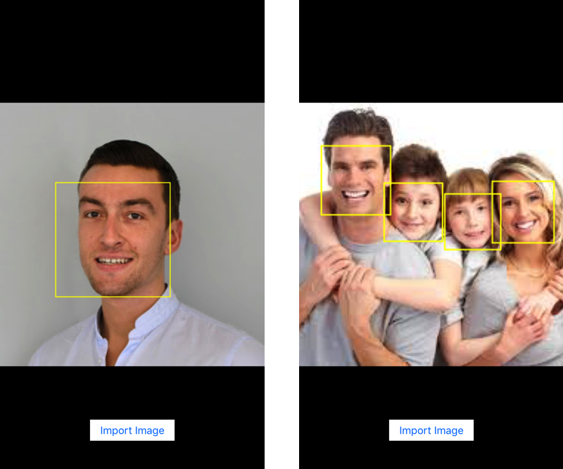 iOS Face Detection