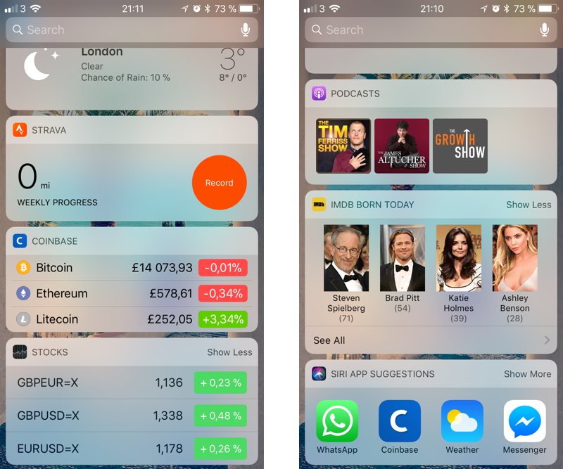 iOS Today Extension