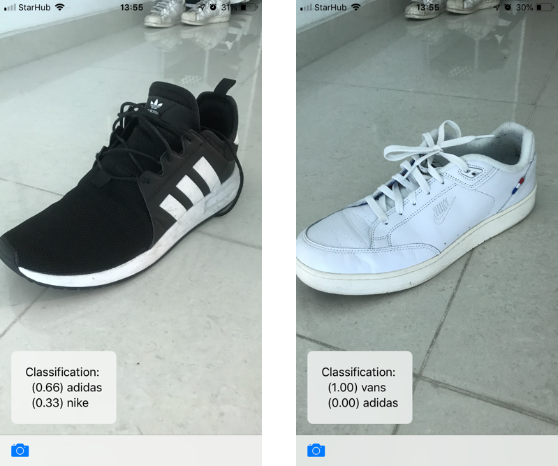 iOS-swift-machine-learning-shoes
