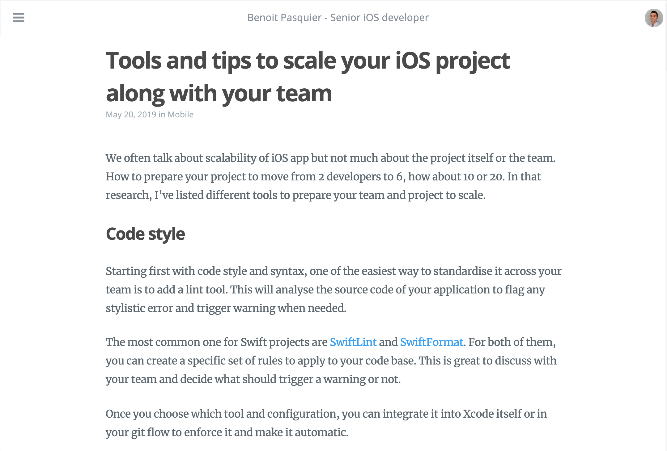 Tools and tips to scale your iOS project along with your team