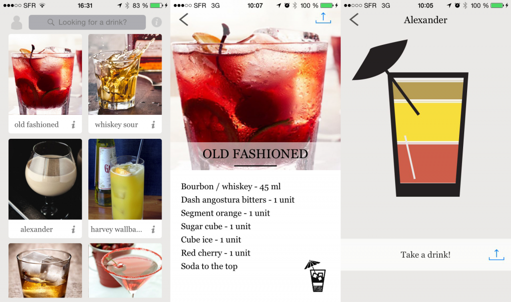 L'application mobile CocktailMaker