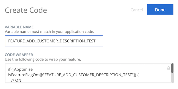 Apptimize configuration